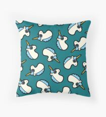 Unicorns Are Cool Pattern - Blue Floor Pillow