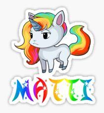 Matti Unicorn Sticker Sticker