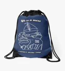 Guess the shapes game, family and friends t-shirt Drawstring Bag