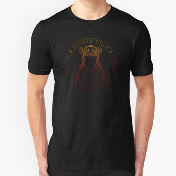 The King in Yellow Sigil (hellfire) Slim Fit T-Shirt