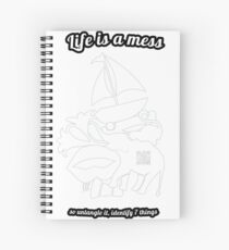 Guess the shapes game, family and friends t-shirt Spiral Notebook