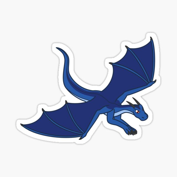 Flying Blue Dragon Sticker