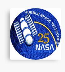 NASA Hubble 25th Anniversary Patch Canvas Print