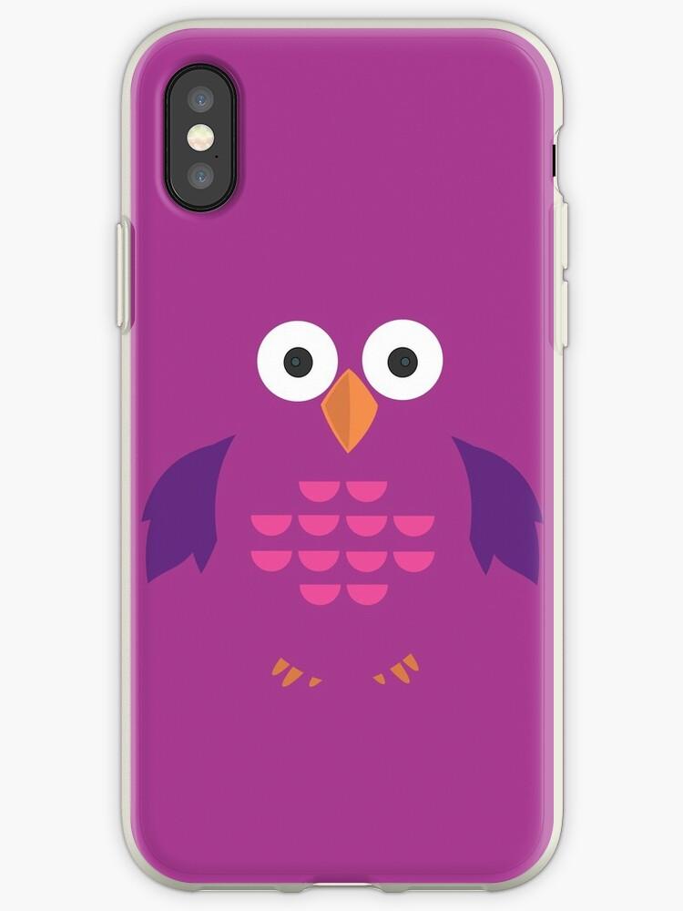 Purple & Purple Owl by Adam Santana
