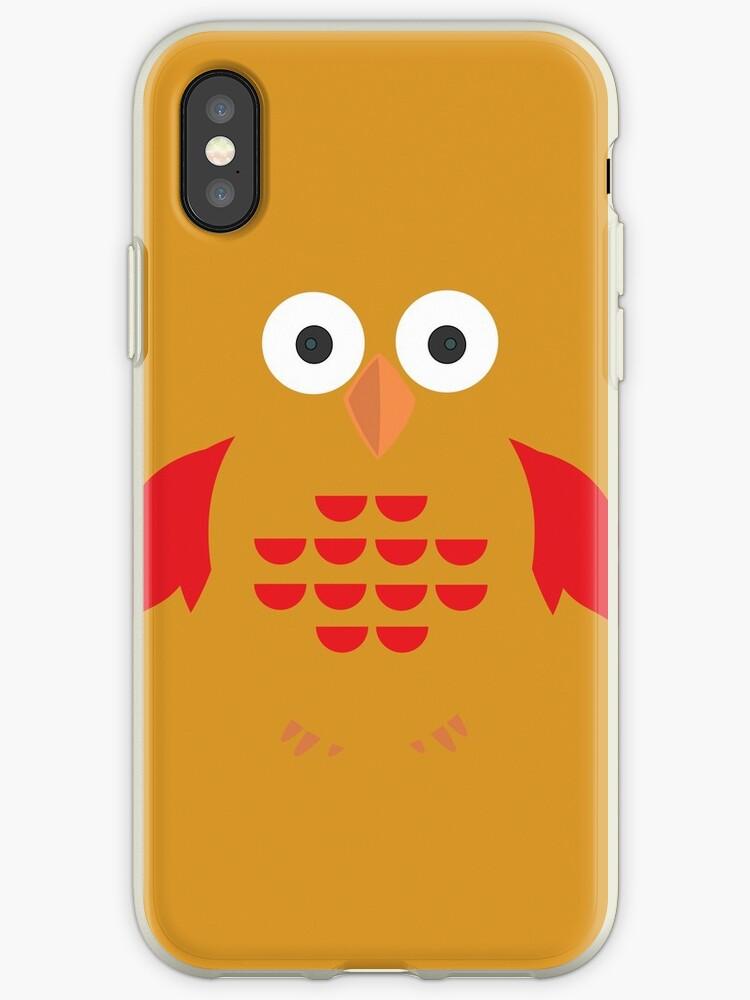 Yellow & Red Owl by Adam Santana