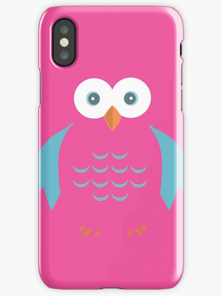 Blue & Pink Owl by Adam Santana
