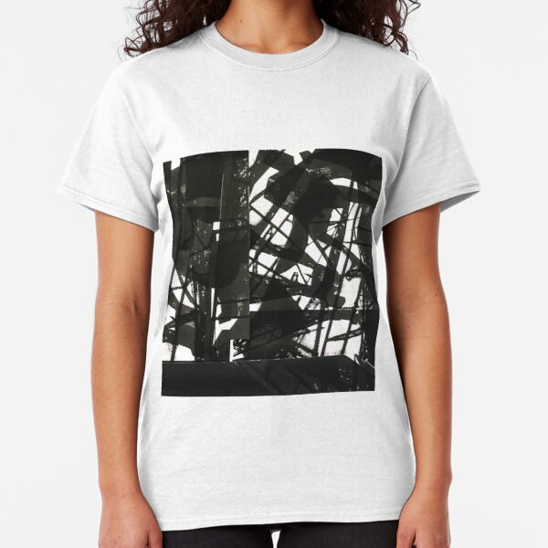 abstract lines blackness darkness Classic T-Shirt