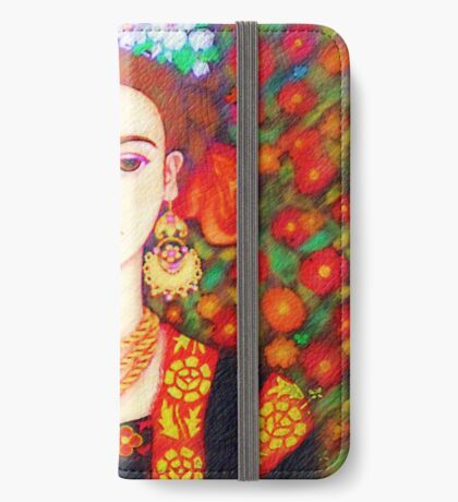 My other Frida Kahlo with butterflies  iPhone Wallet