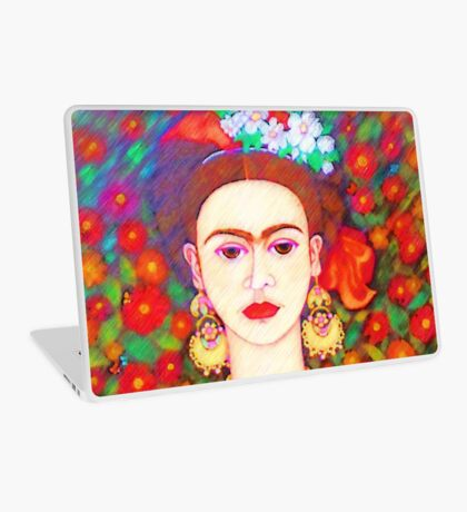 My other Frida Kahlo with butterflies  Laptop Skin