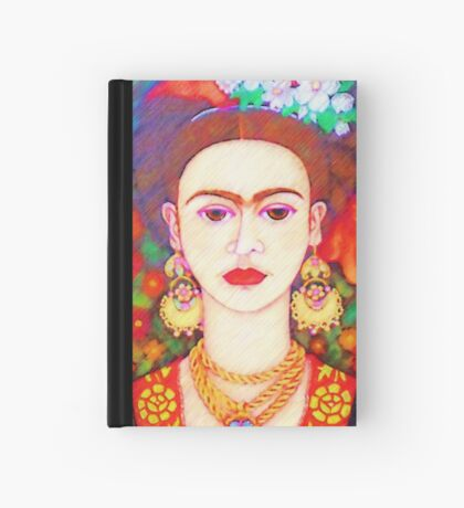 My other Frida Kahlo with butterflies  Hardcover Journal