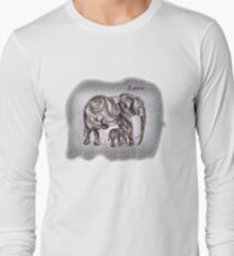 Mom Elephant  Long Sleeve T-Shirt