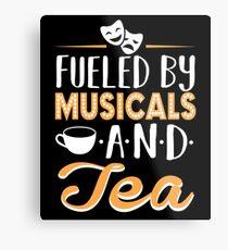 Lienzo metálico Impulsado por musicales y té