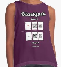 Interactive blackjack t-shirt, family and friends card game Contrast Tank