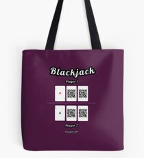 Interactive blackjack t-shirt, family and friends card game Tote Bag