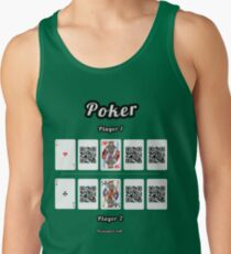 Interactive poker, family and friends card game t-shirt Men's Tank Top