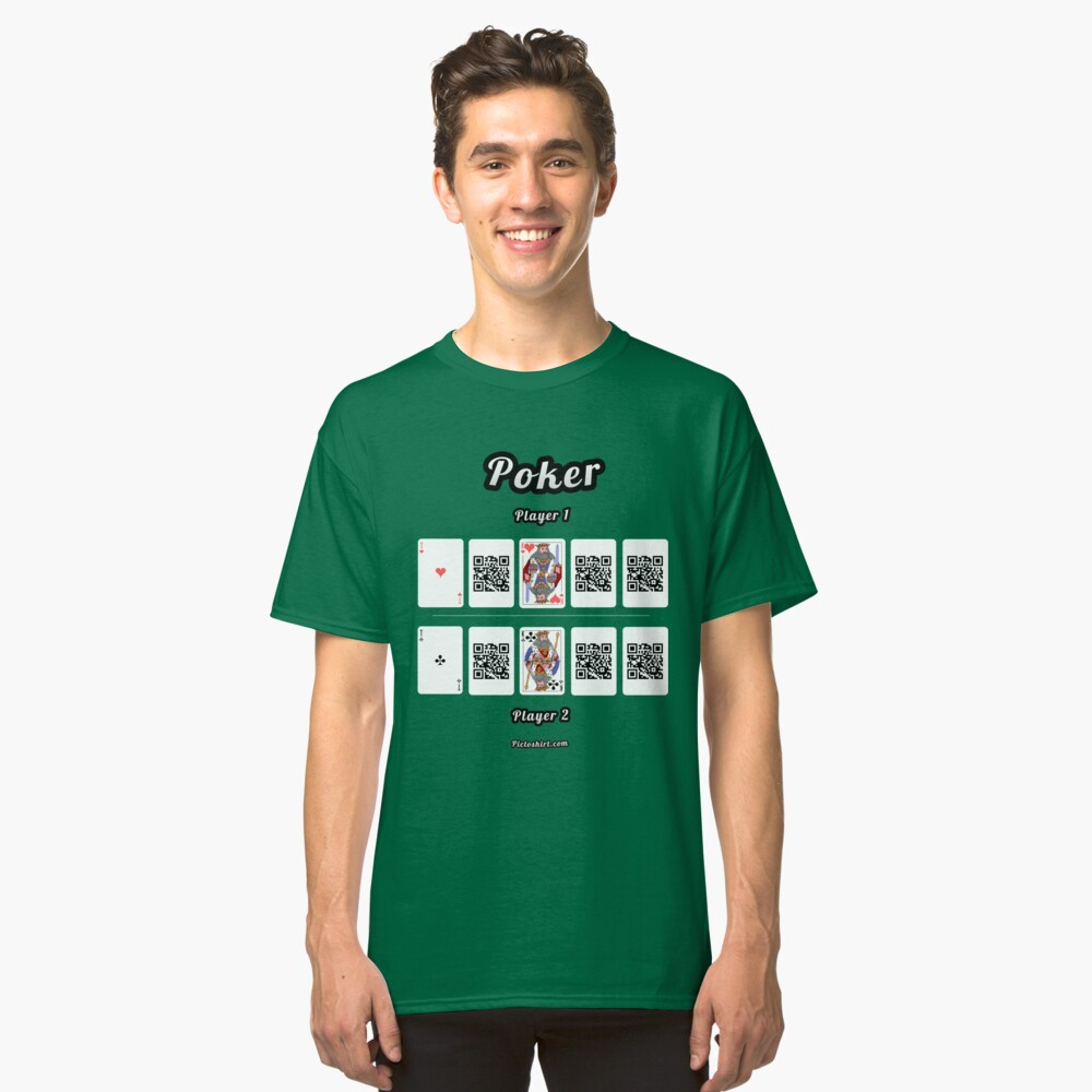 Interactive poker, family and friends card game t-shirt Classic T-Shirt Front