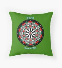 Interactive darts, family and friends game t-shirt Throw Pillow