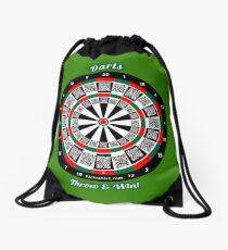 Interactive darts, family and friends game t-shirt Drawstring Bag