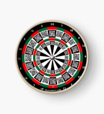 Interactive darts, family and friends game t-shirt Clock