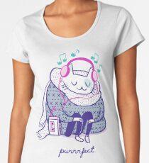 Purrrfect music Women's Premium T-Shirt