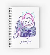 Purrrfect music Spiral Notebook