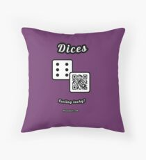 Interactive dice game, family and friends dice t-Shirt Throw Pillow