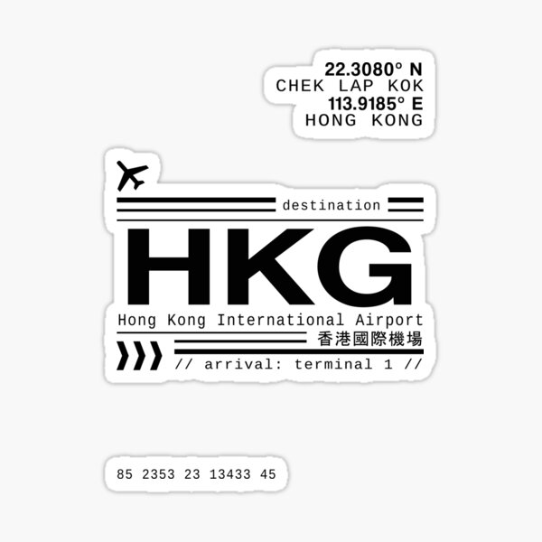 Hong Kong International Airport call letters Sticker