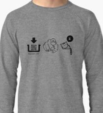 Interactive pictogram game tshirt for family and friends Lightweight Sweatshirt