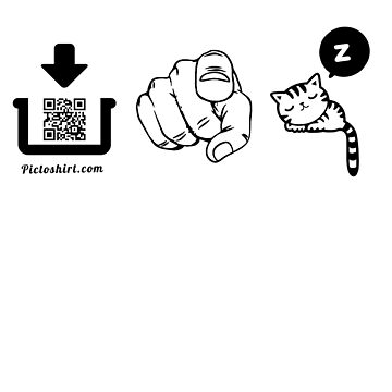 Interactive pictogram game tshirt for family and friends by pictoshirt