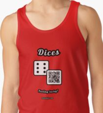 Interactive dice game, family and friends dice t-Shirt Men's Tank Top