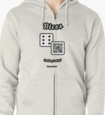 Interactive dice game, family and friends dice t-Shirt Zipped Hoodie