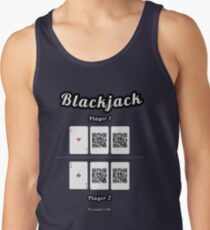 Interactive blackjack t-shirt, family and friends card game Men's Tank Top