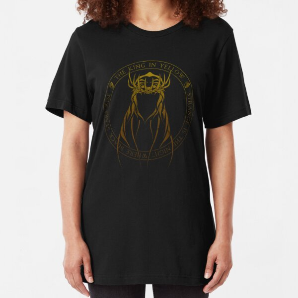 The King in Yellow Sigil (yellow sign) Slim Fit T-Shirt