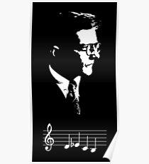 Dmitri Shostakovich DSCH motif musical notes Poster