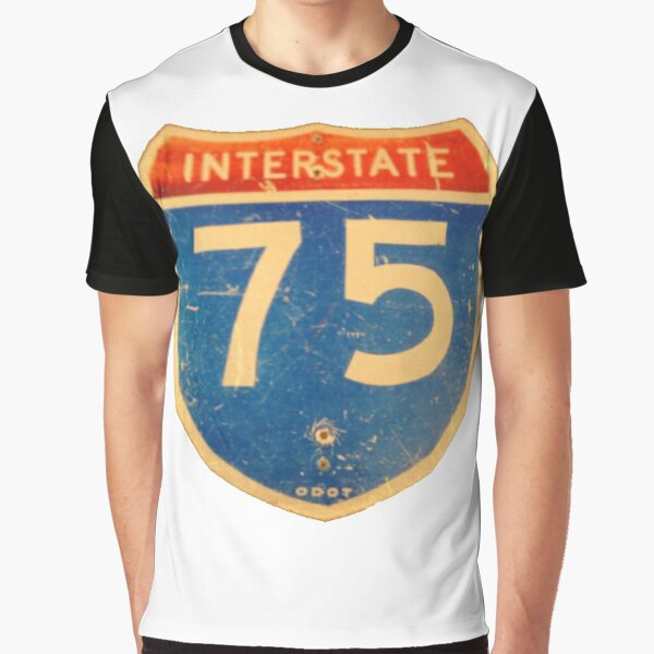 Ohio Interstate 75 (I75 or I-75) Sign Graphic T-Shirt