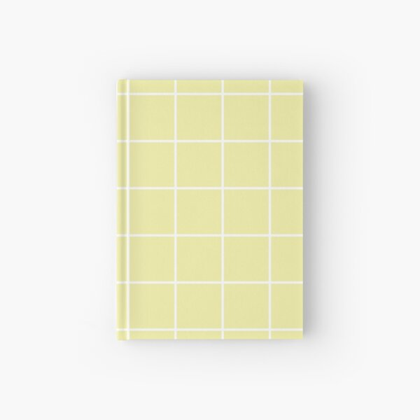 grid, white and pastel yellow Hardcover Journal