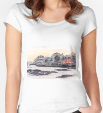 New England Coast Fitted Scoop T-Shirt