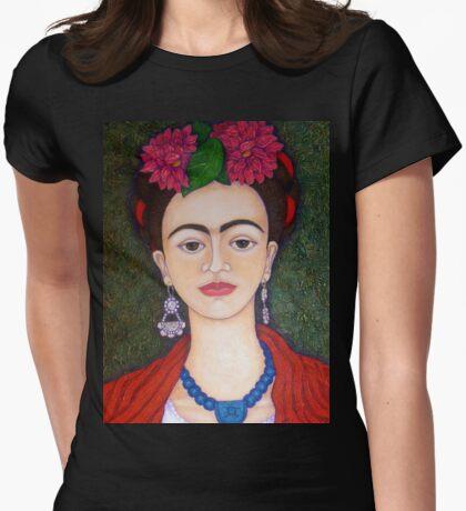 Frida portrait with dalias closer T-Shirt