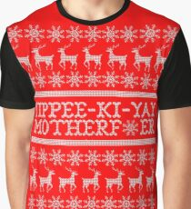 Die Hard Yippee-Ki-Yay Ugly Christmas Sweater Graphic T-Shirt