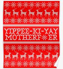 Die Hard Yippee-Ki-Yay Ugly Christmas Sweater Poster