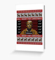 Trump im Gefängnis Hässlicher Weihnachtsstrickjacke Grußkarte