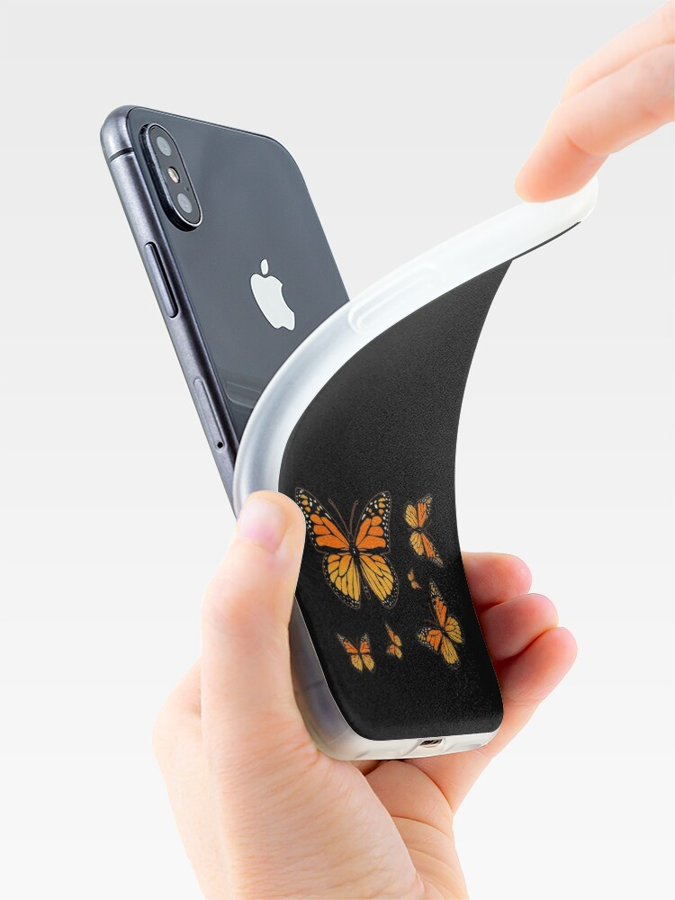 Alternate view of Monarch Butterfly Rapsody iPhone Case & Cover