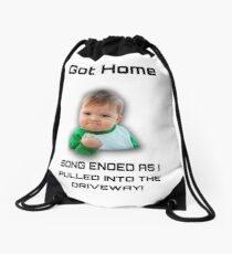 sucess kid merch Drawstring Bag