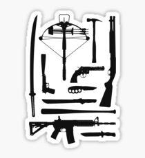 The Walking Dead Weapons Sticker