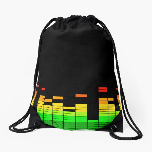 DJ Music Beat Equalizer Drawstring Bag