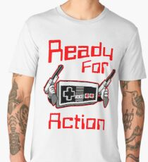 Ready For Action Nintendo Style Men's Premium T-Shirt