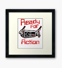 Ready For Action Nintendo Style Framed Print