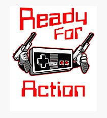 Ready For Action Nintendo Style Photographic Print