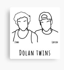 dolan twins white Canvas Print