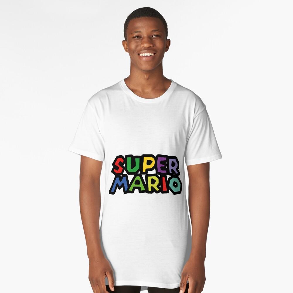 Super Mario Long T-Shirt Front